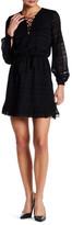 Jessica Simpson Lace-Up Long Sleeve Dress