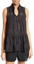 Kate Spade Women's Eyelet Embroidered Tiered Top