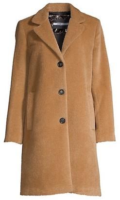 Jane Post Single-Breasted Alpaca & Wool Boy Coat