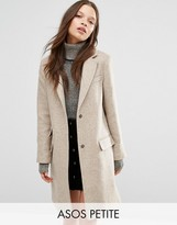 Asos Wool Blend Slim Coat With Pocket Detail