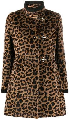 Fay Leopard Print Coat