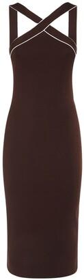 Ralph Lauren Collection Lurex Dress W/Front Cross