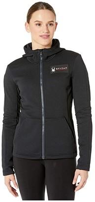 Spyder Slalom Hoodie (Black) Women's Sweatshirt