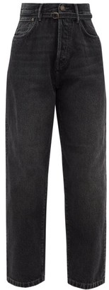Acne Studios 1991 Toj Belted High-rise Wide Leg Jeans - Black