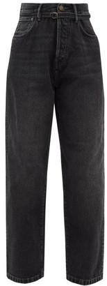 Acne Studios 1991 Toj Belted High-rise Wide Leg Jeans - Womens - Black