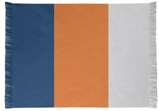 Houston Striped Navy/Orange/Gray Area Rug East Urban Home Non-Skid Pad Included: Yes