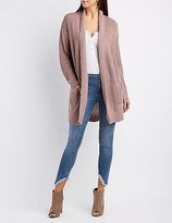 Charlotte Russe Shawl Collar Duster Cardigan