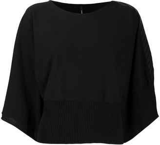 Pierantonio Gaspari Faux-Leather Chevron Sleeve Jumper