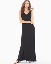 Soma Intimates Front-Slit Maxi Dress Black TL