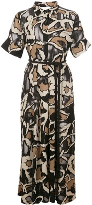 Lisa Marie Fernandez Button Down Floral Print Midi Dress