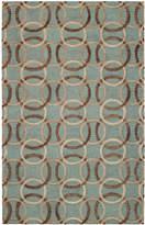 Capel Area Rug, Graphique 3390-200 Ringlets Seaglass 7' x 9'
