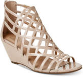 Material Girl Henie Caged Demi Wedge Sandals, Created for Macy's Women's Shoes