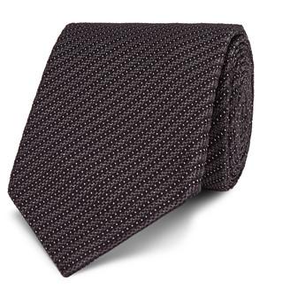 Tom Ford 7cm Striped Silk-Blend Jacquard Tie