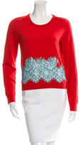 Carven Wool Embroidered Sweater