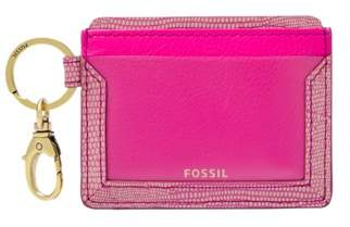 Fossil Lee Card Case Wallet Fuchsia