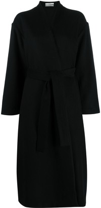 Co Collarless Tie-Waist Coat