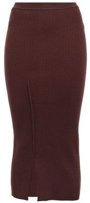Victoria Beckham Ribbed-knit Midi Skirt
