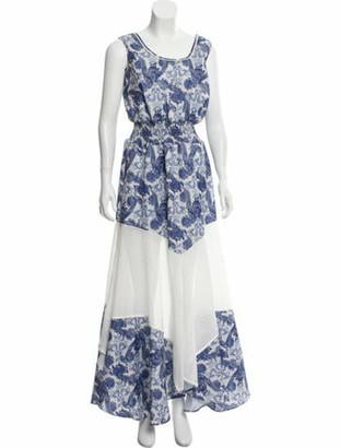 Astier Ny Printed Maxi Dress w/ Tags Navy