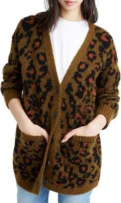 Madewell Leopard Cardigan Sweater