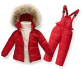 MIQI Baby Boys' Girls' Long Sleeves Ultralight Winter Puffer Jacket Two-piece set