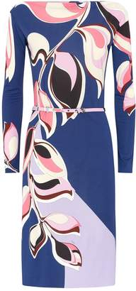 Emilio Pucci Heliconia Print Belted Dress