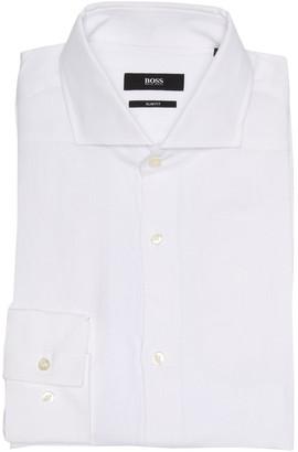 HUGO BOSS Jason Slim Fit Linen Dress Shirt