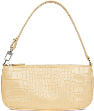 BY FAR Yellow Croc Rachel Shoulder Bag