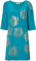 Trina Turk metallic print shift dress - women - Polyester/Silk - 6