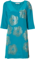 Trina Turk metallic print shift dress - women - Silk/Polyester - 6