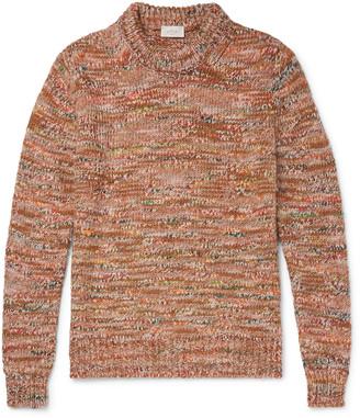 Altea Melange Knitted Sweater - Men - Orange