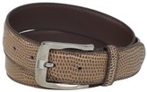Stacy Adams Men's 32mm Genuine Leather Lizard Skin-Print Belt
