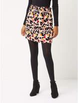 George Pink Animal Print Paper Bag Waist Skirt