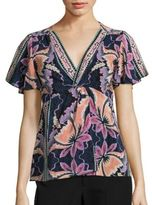 Nanette Lepore Venus Floral-Print Silk Top