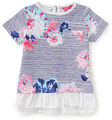 Joules Baby/Little Girls 12 Months-3T Ruffled-Hem Printed Top