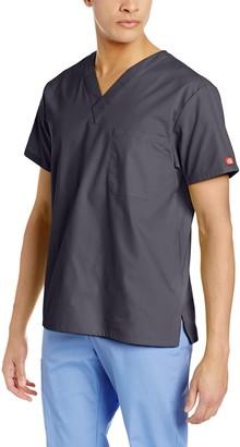 Dickies Men's Signature V-Neck Scrubs Shirt