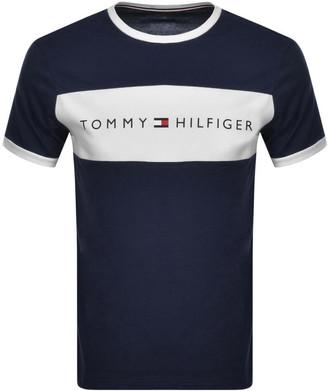 Tommy Hilfiger Lounge Logo Flag T Shirt Navy