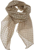 The Two Mrs Grenvilles Foil Spot Scarf