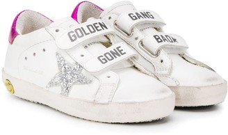 Golden Goose Kids Old School touch strap sneakers