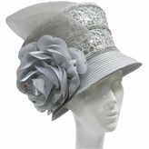 Whittall & Shon Derby Hat Bucket W Sequin Trim And Rose