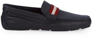 Bally Textured Leather Loafers