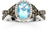 Le Vian Chocolatier FINE JEWELRY LIMITED QUANTITIES LeVian Grand Sample Sale Chocolatier Lab-Created Blue Topaz and Diamond Ring