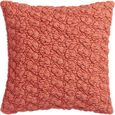"CB2 Gravel Red-Orange 18"" Pillow With Feather-Down Insert"