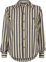 Vivienne Westwood Piano Shirt Blue/Yellow Stripes Size 38
