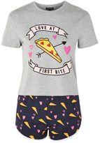 Love at first bite pizza pyjama set