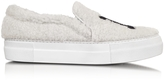 Joshua Sanders NY White Synthetic Fur Slip On Sneaker