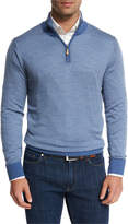 Peter Millar Collection Merino-Silk-Cashmere Birdseye Quarter-Zip Sweater