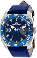 Oceanaut Mens Barletta Blue Leather Strap Watch