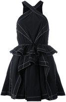 Alexander Wang ruffled mini dress - women - Nylon/Polyester - 4