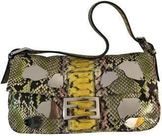 Fendi Baguette Multicolour Python Handbags