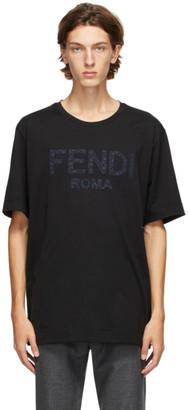 Fendi Black Roma T-Shirt